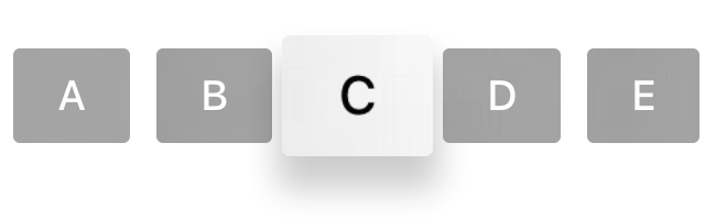 Button C is currently in focus